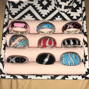 Jewelry - NEW!! NEVER USED!!! Pretty sparkly rings!!!
